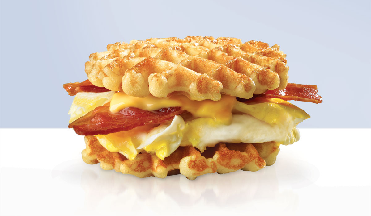 White Castle's Belgian Waffle Breakfast Sliders