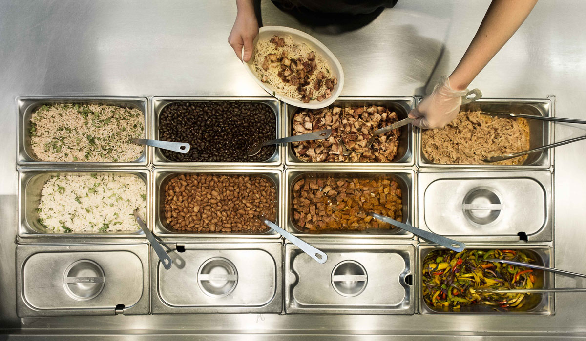 The first Chipotle in London will open in April.