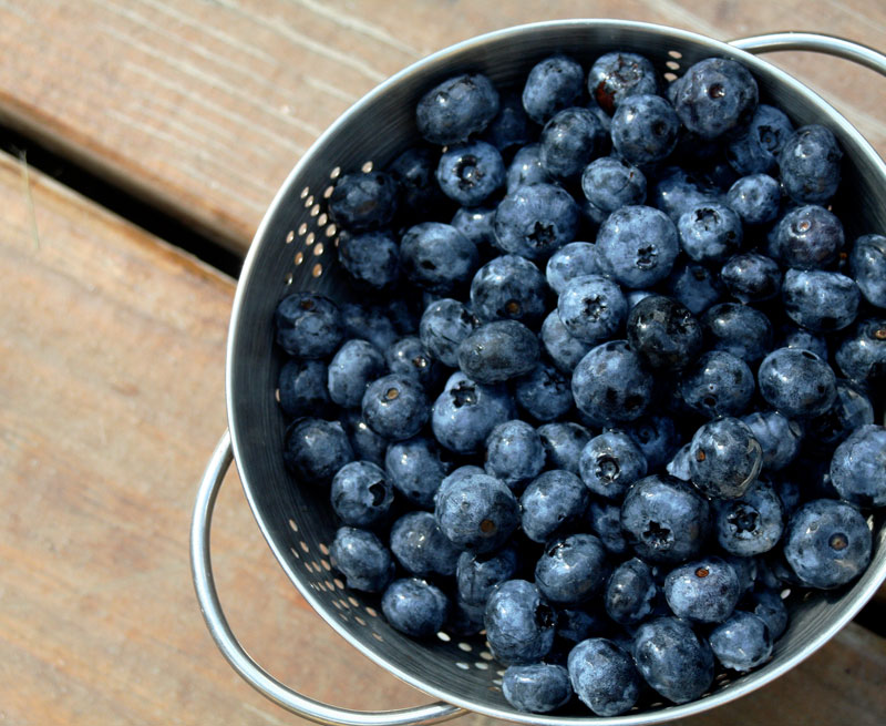 Blueberries are used more today for restaurant menu items.