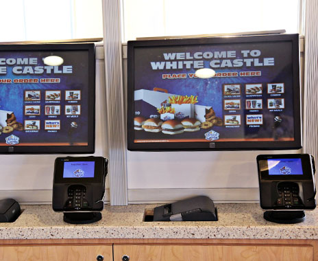 Fast Food Burger Ordering Touch Screens Help Customize Meals QSR - Restaurant table ordering system