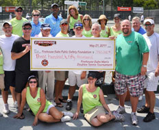 Firehouse Subs raised $350,000 at last year's tennis tournament.
