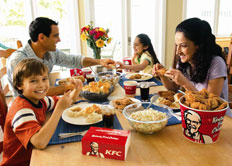 Seventeen percent of KFC customers say they choose it for healthy food.