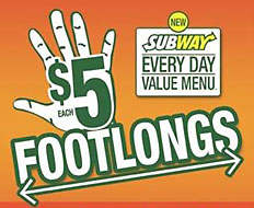 Subway's $5 footlong deal offered a value to customers during the recession.