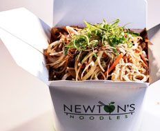 Newton's Noodles is a fast casual spin off of a Washington DC restaurant.