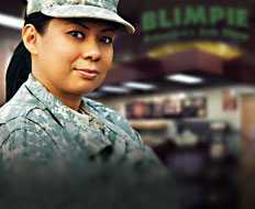 Blimpie has a program that offers discounted franchise fees for veterans.