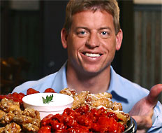 Football Hall of Famer Troy Aikman is a spokesman for Wingstop.
