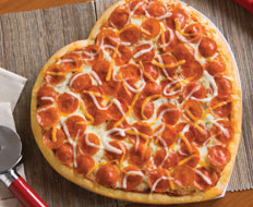 Papa Murphy's heart shaped pizza appeals to families looking for value.
