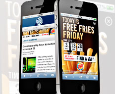 Burger King used a geo location marketing campaign with its french fries launch.
