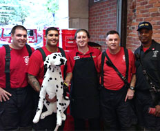 The Boston Fire Department was treated to free meals at Firehouse Subs.