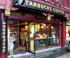 Starbucks is one brand that has grown in other nations, like China.