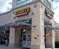 Dickey's Barbecue Pit enjoyed the best growth among quick service restaurants.