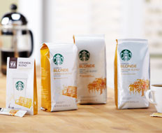 Starbucks Blonde roast is available in three different blends.