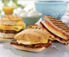 Wendys updated breakfast menu includes new breakfast sandwiches.