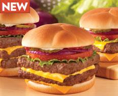 Wendy's new Dave's Hot 'n Juicy Cheeseburger is being advertised by Wendy hersel