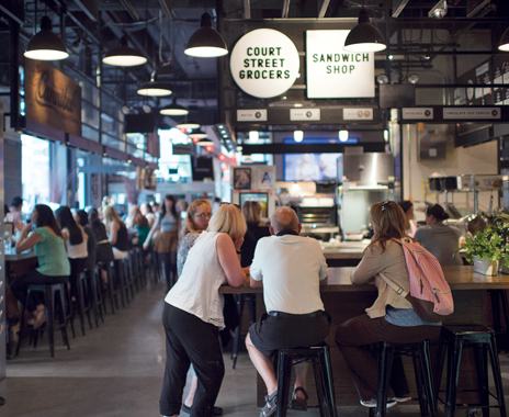 Gotham West Market Food quick service market stalls in us food halls drive menu innovation
