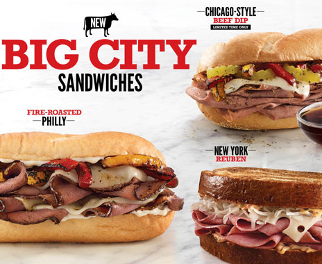 Arby S Introducing Big City Sandwiches Nationwide
