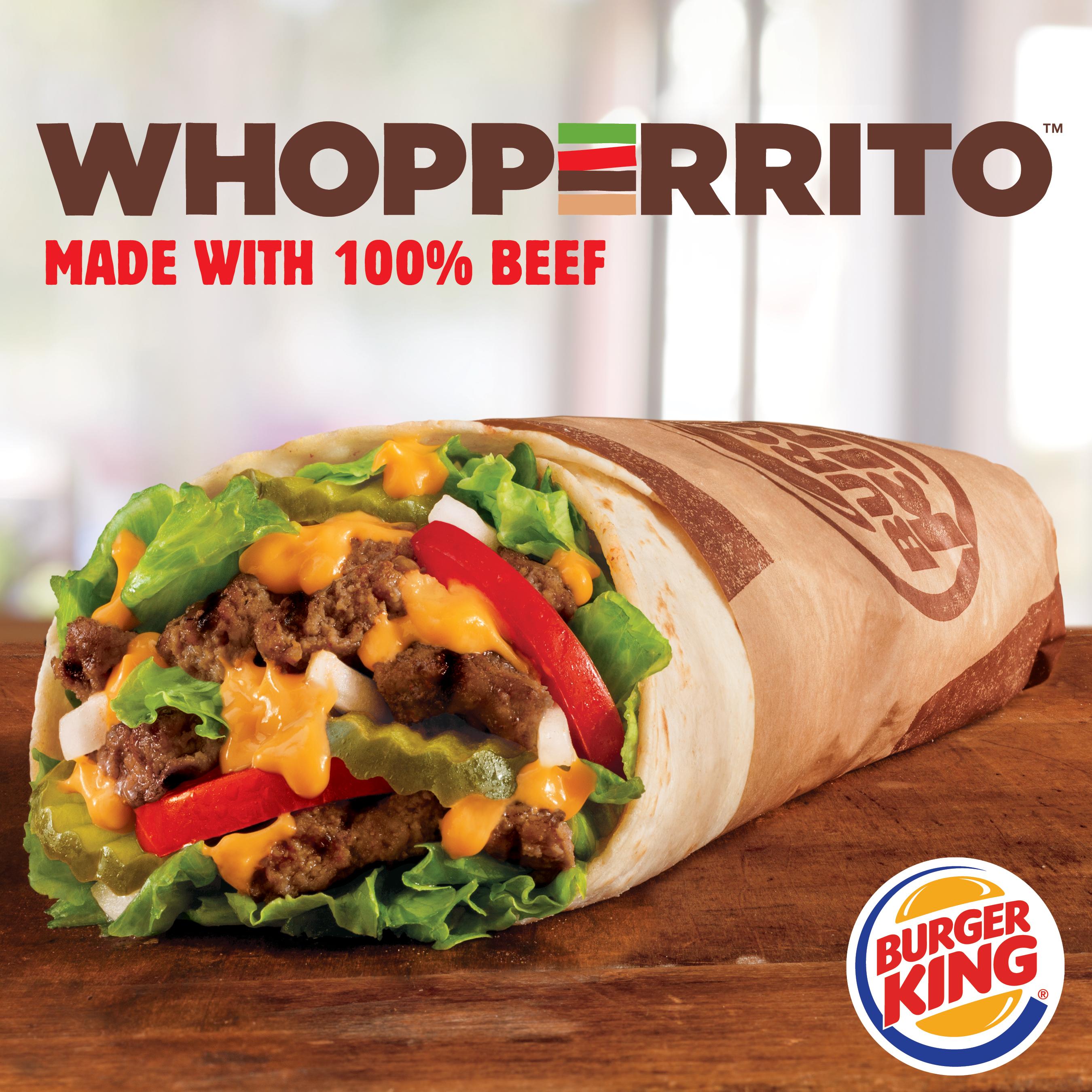 Burger King Debuts Whopperito Burger Burrito Mash Up