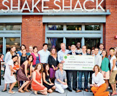 Shake Shack is one quick serve brand that contributes to the anti hunger effort.