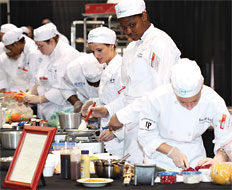 Young employees are being recruited into the restaurant industry.