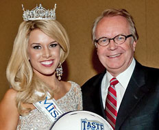 Teresa Scanlan, Miss America 2011, and Wayne Kostroski.