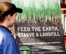 Burgerville's composting and recycling program, which helps the company save tho