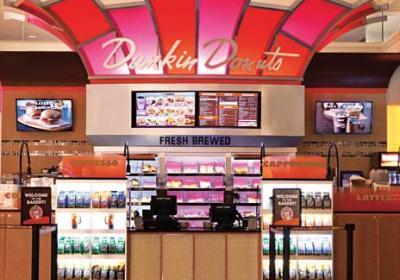 Unusual quick service restaurant units locate in high traffic customer locations like casinos.