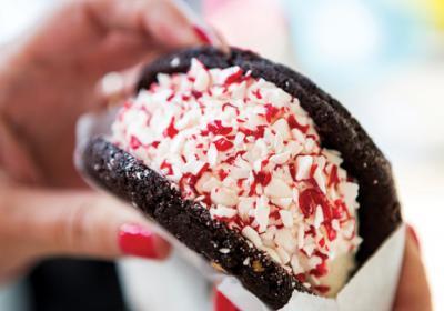 Upstart quick service dessert brand CREAM serves premium ice cream sandwiches.