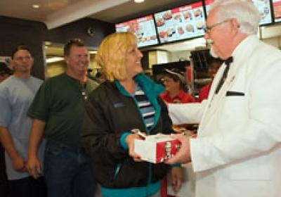 As part of Yum! Brands' World Hunger Relief campaign, KFC turned a number of its