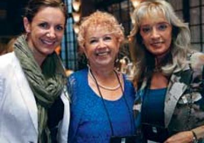 Kat Cole, Patricia Wilmot, and Monica Boyles attend a WFF event.