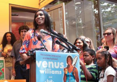 Tennis star and Jamba franchisee Venus Williams promotes healthy lifestyles.
