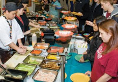 More college students today are expanding their food options on campus.