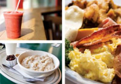 Breakfast offerings ranging from quick and easy to personalized combos attract d