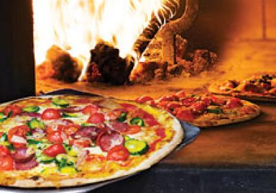 Gourmet pizzas, such as those baked in a brick oven, are rising in popularity.