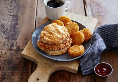 Bojangles Cajun Filet Biscuit Combo