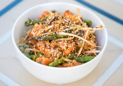 Gochujang Salmon at Sweetfin, which is part of three new signature poke bowls.