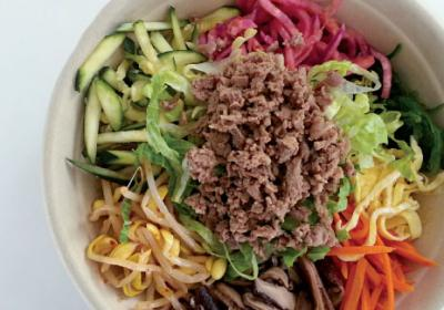 Korean fast casual concept uses Chipotle ordering style in New York restaurant.