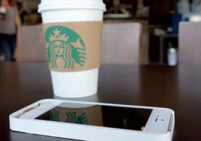 Quick service companies like Starbucks let customers use wireless charging stations.