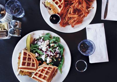 Top QSR chains test new waffle menu items that are both sweet and savory.