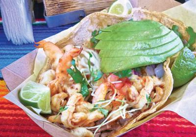 San Diego fast casual Mexican chain offers spicy shrimp taco with big bold flavors.