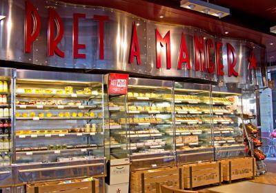Pret A Manger storefront.