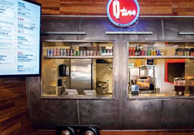 Chicago bbq restaurant Qtine dishes fusion hybrid menu with Canada menu favorite.