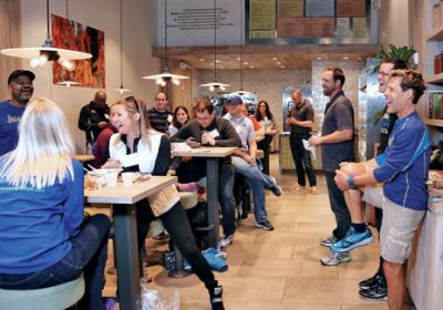 QSR chains promote healthy active lifestyles for restaurant customers.