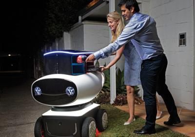 Robots, drones, and driverless cars may be the future of delivery