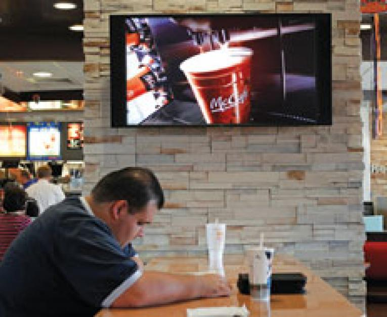 Mcdonalds television network new precedent in dining room content late last year mcdonalds announced that it would launch in 645 california stores its own tv channel that broadcasts news sports and local interest sxxofo