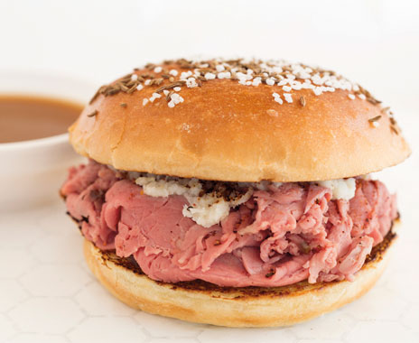 Los Angeles California based Top Round roast beef chain serves good quality sandwiches.