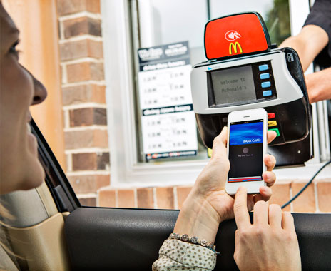 McDonalds is one major fast food chain to incorporate Apple's new mobile tool.