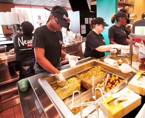 Quick service restaurant brands hire more employees for Christmas shopping season.