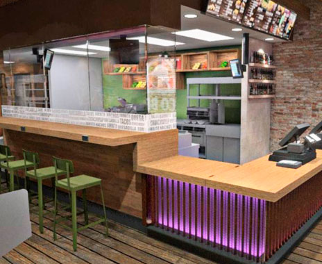 Fast food mexican chain taco bell to open new urban for Food bar cantina